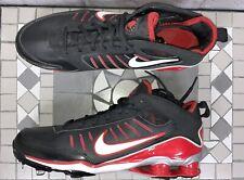 Rare Nike Shock AROD Elite Metal Baseball Huarache Cleats 333786-018 Red Black
