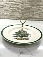 SPODE CHRISTMAS TREE SERVING PLATE WITH HANDLE  LOVELY!!