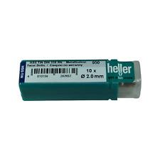 Heller 2 mm HSS-TIN TITANIO Twist Punte Trapano in Metallo Confezione 10 strumenti di qualità tedesca