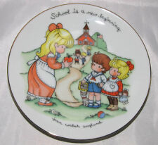 Joan Walsh Anglund 1986 Plate Miniature School Is A New Beginning Avon