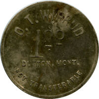 O. T. Wiprud General Store Dutton, Montana MT $1 Ingle System Trade Token