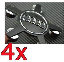 4x Black Audi  Wheel Center Cap Emblem Cover Hub A4 A5 A6 A7 S4 S5 Q5 4F0601165N