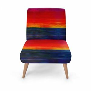 Sunset Designer Occasional Chair, Handmade to order Sustainable Wood, Eco Print