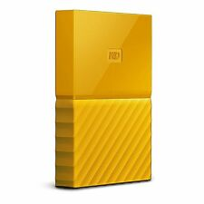 Disque dur Externe Portatif 4To WD Yellow My Passport Portable HDD USB 3.0 jaune