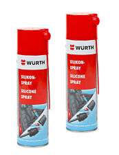 Würth silicone spray 2 x clear 500ml lubrifiantes spray agent de démoulage