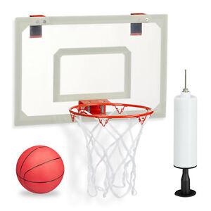 Basketballkorb fürs Zimmer Set, mit Ball & Ballpumpe, Mini Backboard zum Hängen