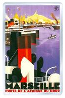 Marseille Vintage Repro Fridge Magnet Souvenir Fridge Magnet