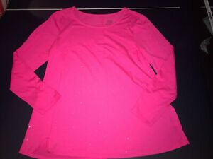 Girls Justice Pink Metallic Speckled Shirt Size 20 EUC Excellent Used Condition