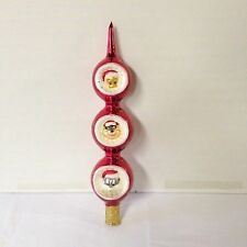 Christopher Radko Christmas Decoration Tree Topper Looney Tunes red glass