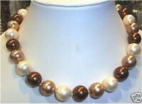 Beautiful 8mm South Sea Multicolor Shell Pearl Necklace 18""