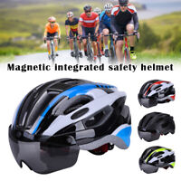 Luxury Mountain Road Cycling Helmet Bicycle Ultralight Bike Helmet w/ Goggles