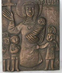 SELTEN  XXL Bronze Relief Egino Weinert,  St.Luise  ca 20x16cm, ca 1,1kg