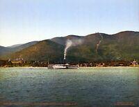 "1904 Mount Prospect Lake George NY Vintage Photograph 8.5"" x 11"" Reprint"