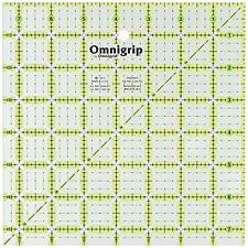 Dritz Omnigrip Non-slip Quilter's Ruler, 7.5 By 7.5-inch