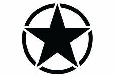 Jeep Wrangler Rubicon Sahara Unlimited Hood Vinyl Decal Solid Army Star BLACK