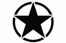 Jeep Wrangler Rubicon Sahara Unlimited - Hood Solid Army Star Matte Black Vinyl