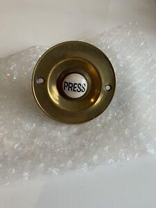 Vintage/antique Brass & Porcelain Door Bell Push (untested)