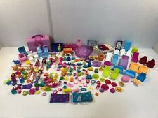 Large Lot of Polly Pocket Dolls Furniture Clothes Accessories