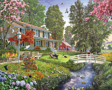 SUNDAY AFTERNOON 1000 PIECE JIGSAW PUZZLE by WHITE MOUNTAIN ~ NEW & SEALED