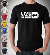Motorhome Driver T Shirt Mens Live Breathe Sleep Gift