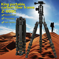 ZOMEI Z669C Pro Portable Carbon Fiber Ball Head Tripod Monopod For Camera DSLR