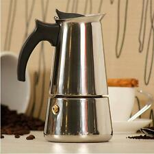 6 Cup Stove Top Espresso Maker Moka COFFEE MAKER Latte Stainless Steel Pot