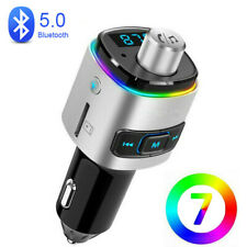 Bluetooth 5.0 FM Transmitter Auto MP3 Player 2 USB KFZ SD AUX Freisprechanlage