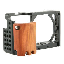NICEYRIG A6400 Camera Cage with Wooden Handgrip Cold Shoe for Sony A6300 A6000