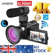 "ANDOER 4K WIFI 1080P HD 48MP 16X ZOOM 3"" LCD DIGITAL VIDEO CAMERA CAMCORDER DVR"