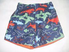 Primark baby boys shark swim trunks bottoms shorts 9-12 months