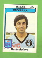 1980  CRONULLA  SHARKS  SCANLENS RUGBY LEAGUE  CARD #136  MARTIN RAFTERY