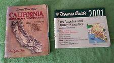 Thomas Bros Guide California Road Atlas and Los Angeles Street Map Book Lot