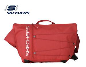 Skechers Santa Monica Body Messenger Bag w Laptop Pocket Travel - Red