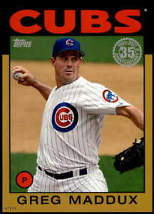 Greg Maddux 2021 Topps 5x7 1986 Baseball 35th Anniversary Gold #86B-25 /10 Cubs