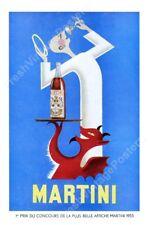 Devil Angel Martini vermouth F. Marcou 1953 ad new poster 16x24