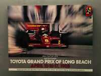Vintage LONG BEACH Toyota Grand Prix Racing 1988 Poster 22x17 Promotion