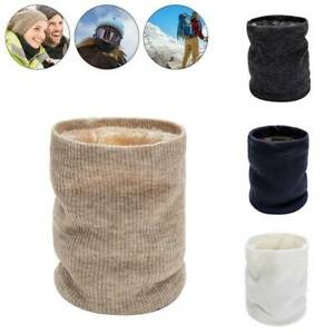 Neck Scarves Thermal Warmer Knitted Tube Snood Unisex Outdoor Fleece Winter