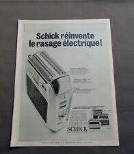PUB PUBLICITE ANCIENNE ADVERT CLIPPING 040717 / RASOIR ELECTRIQUE SCHICK