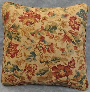 NEW Corded Pillow made w Ralph Lauren Highgate Woods Floral Tapestry Fabric 16""