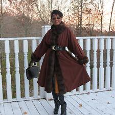Designer RAFFAELLA CURIEL Swing Full length  Russian Sable Fur Coat S-M 4-14 46