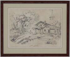 EULALIE BRUAND  DESSIN VILLAGE DU SAINT-GOTHARD 1839