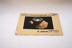 Canon Interchangable Lenses FD system Guide Brochure (EN) 5110063