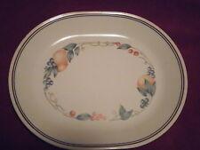 "Corelle Coordinates Abundance Fruit 12"" Oval Platter Stoneware Discontinued"
