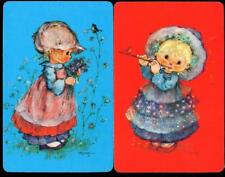HOLLY HOBBIE LIKE SWAP CARD X2 CARDS IN TOTAL BLUE AND RED GIRLS (BRAND NEW)