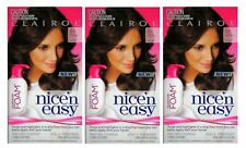 3 x CLAIROL NICE N EASY PERMANENT HAIR COLOUR FOAM 6G LIGHT GOLDEN BROWN NEW