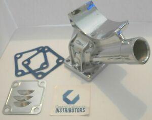 VW 12V CHROME ALUMINUM ALTERNATOR / GENERATOR STAND KIT w/ GASKETS AND DEFLECTOR