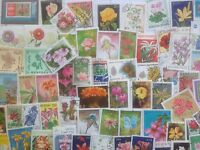 2000 Different Flowers/Flora on Stamps Collection