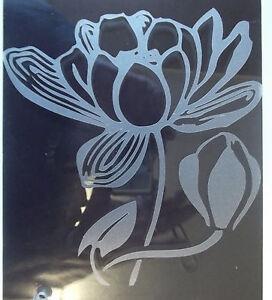 Glastattoo, Fensteraufkleber, Wasserlilie aus hochwertiger Glasdekorfolie