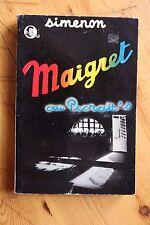 GEORGE SIMENON Couverture Photo 1955 Maigret au Picratt's