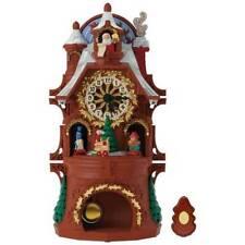 Santa's Christmas Clock 2017 Hallmark Magic Musical Ornament Tabletop  In Stock
